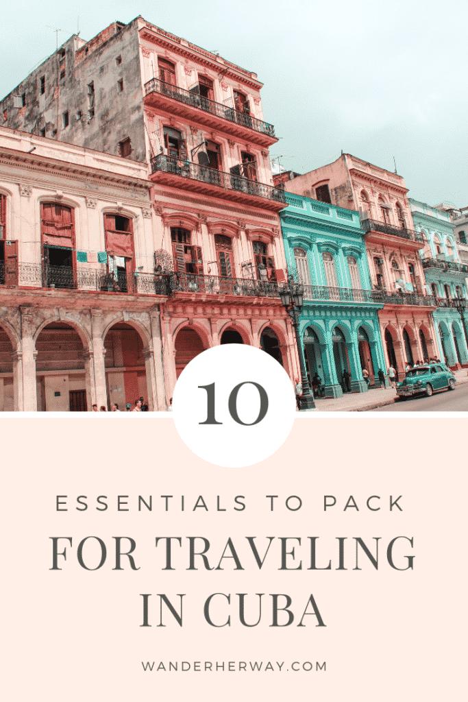 Cuba Packing List