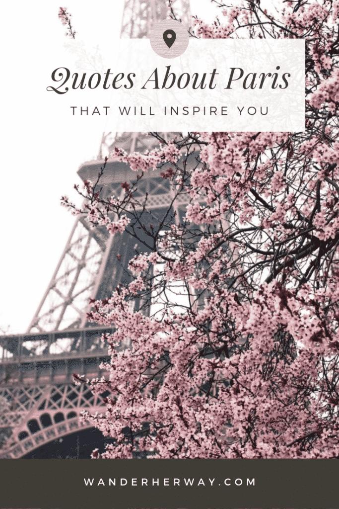 22 Inspiring Quotes About Paris