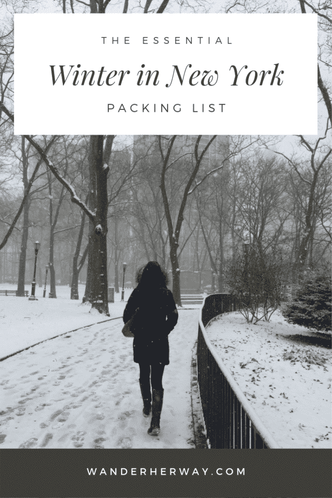 New York Winter Packing List