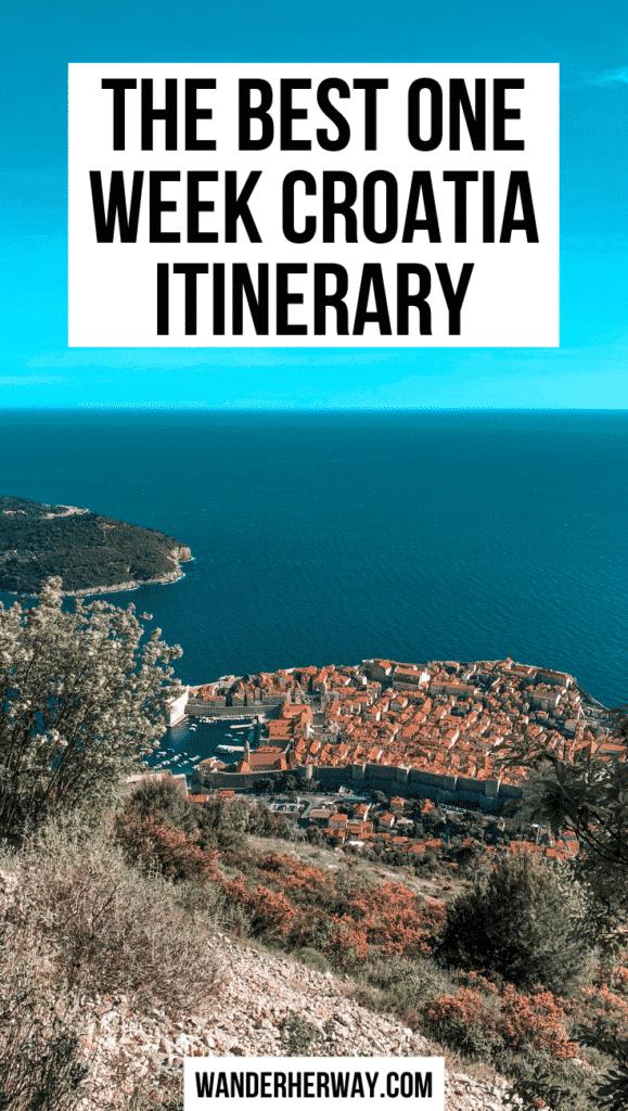 Best One Week in Croatia Itinerary